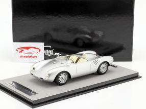 Porsche 550A RS stampa versione 1957 argento metallico 1:18 Tecnomodel