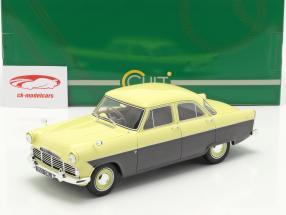 Ford Zodiac 206E Baujahr 1957 gelb / dunkelgrau 1:18 Cult Scale