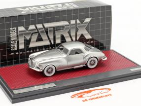 DeSoto Adventurer 1 Ghia Bouwjaar 1953 zilver metalen 1:43 Matrix