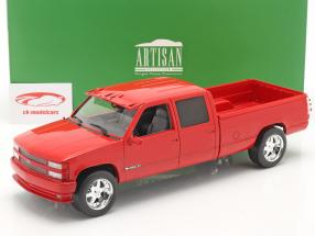 Chevrolet 3500 Crew Cab Silverado PickUp 1997 red 1:18 Greenlight
