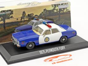 Plymouth Fury Osage County Sheriff 1975 hvid / blå 1:43 Greenlight
