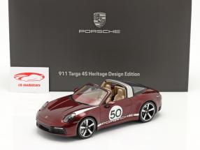 Porsche 911 (992) Targa 4S Heritage Edition #50 2020 cherry red 1:18 Spark