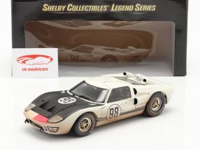 Ford GT40 MK II #98 Vencedora 24h Daytona 1966 Dirty Version 1:18 ShelbyCollectibles