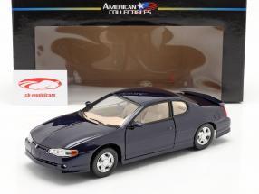 Chevrolet Monte Carlo SS year 2000 navy blue 1:18 SunStar
