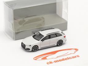 Audi RS4 Avant Byggeår 2018 gletscher hvid 1:87 Minichamps