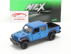 Jeep Gladiator Rubicon Pick-Up Anno di costruzione 2020 blu metallico 1:24 Welly