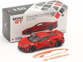 Chevrolet Corvette C8 Stingray year 2020 torch red 1:64 TrueScale