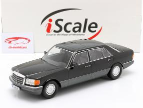 Mercedes-Benz 560 SEL S-Klasse (W126) Baujahr 1985 schwarz / grau 1:18 iScale