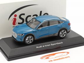 Audi e-tron Sportback Année de construction 2020 antigua bleu 1:43 iScale