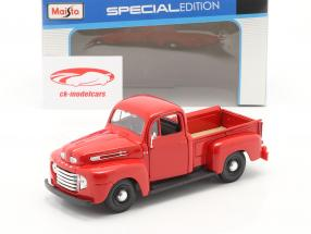 Ford F1 Pick-Up Construction year 1948 red 1:24 Maisto