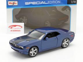Dodge Challenger Concept Car 2006 bleu métallique 1:18 Maisto