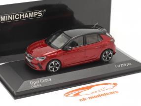 Opel Corsa E Bouwjaar 2019 rood metalen 1:43 Minichamps