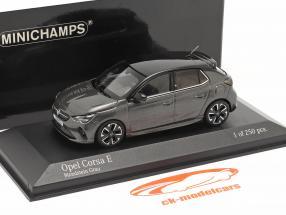 Opel Corsa E Año de construcción 2019 piedra de la luna gris metálico 1:43 Minichamps