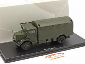 MAN 630 bevæbnede styrker Militær køretøj Lastbil med kasse 1:43 Præmie ClassiXX'er