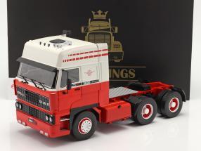 DAF 3600 SpaceCab Lastbil 1986 hvid / rød 1:18 Road Kings