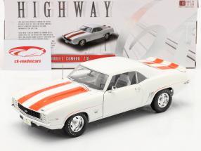Chevrolet Camaro Z10 Pace Car Coupe 1969 bianca / arancia 1:18 Highway61