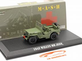 Jeep Willys MB 1942 tv serie M*A*S*H* (1972-83) oliva 1:43 Greenlight
