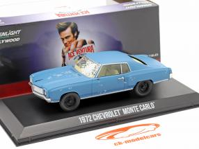 Chevrolet Monte Carlo 1972 Film Ace Ventura (1994) blå 1:43 Greenlight