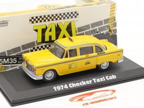 Checker Taxi Cab 1974 Series de Televisión Taxi (1978-83) amarillo 1:43 Greenlight