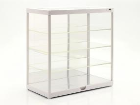 Montra individual Com Iluminação LED e espelho Para escala 1:18 / 1:24 Branco Triple9