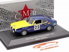 Ford Capri 2600 #23 Olympia-Rallye ERC 1972 Röhrl, Rothfuß 1:43 CMR