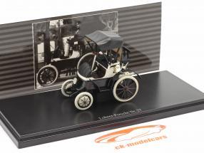 Lohner Porsche Nr. 27 Closed Top Anno di costruzione 1900 nero / bianca 1:43 Fahr(T)raum