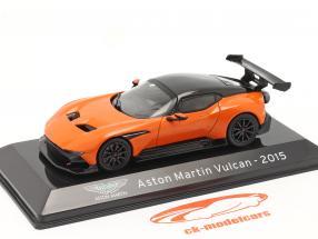 Aston Martin Vulcan Baujahr 2015 orange / schwarz 1:43 Altaya