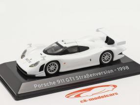 Porsche 911 GT1 Rua versão 1998 Branco 1:43 Altaya