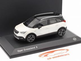 Opel Crossland X Wit metalen 1:43 iScale