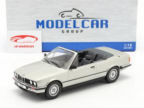 BMW 3er Serie (E30) Cabriolet Baujahr 1985 silber 1:18 Model Car Group