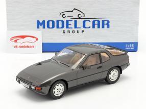 Porsche 924 Turbo Bouwjaar 1979 donkergrijs metalen 1:18 Model Car Group
