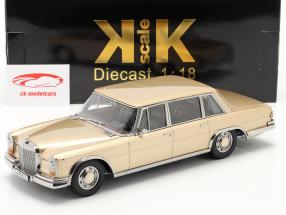 Mercedes-Benz 600 SWB (W100) Ano de construção 1963 Luz Dourada metálico 1:18 KK-Scale