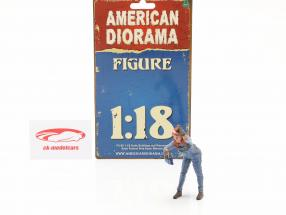 figure #2 Female Mechanic 1:18 American Diorama