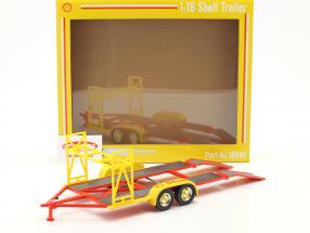 tandem Voiture Bande annonce Shell Jaune / rouge / argent 1:18 GMP