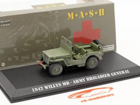 Ford GPW Jeep Willys MB 1942 serie TV M*A*S*H (1972-83) oliva 1:43 Greenlight