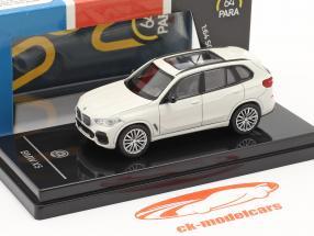BMW X5 G05 Ano de construção 2018 mineral branco 1:64 Paragon Models