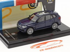 BMW X5 G05 Année de construction 2018 Tanzanite bleu 1:64 Paragon Models