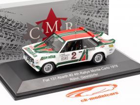 Fiat 131 Abarth #2 4. plads Rallye Monte Carlo 1978 Röhrl, Geistdörfer 1:43 CMR