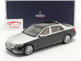 Mercedes-Benz Maybach S-Klasse S650 Année de construction 2018 noir / argent 1:18 Norev