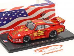 Porsche 935 J #30 3rd Mid-Ohio 500 Miles 1980 Moretti, Busby 1:43 Spark