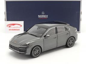 Porsche Cayenne Turbo Coupe Byggeår 2019 agatgrå metallisk 1:18 Norev