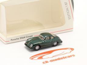 Porsche 356A Coupe verde escuro metálico 1:87 Schuco