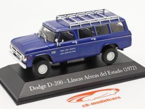 Dodge D-200 Staat luchtvaartmaatschappij Argentinië 1972 blauw 1:43 Altaya