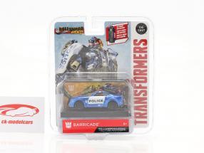 Barricade Police Car Film Transformers 5 (2017) bleu / blanc 1:64 Jada Toys