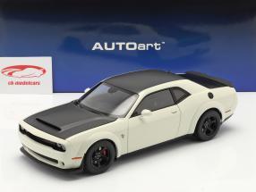 Dodge Challenger SRT Demon Bouwjaar 2018 Wit / zwart 1:18 AUTOart