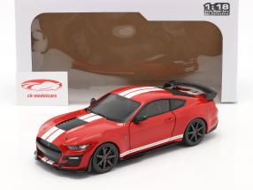 Ford Mustang Shelby GT500 Fast Track year 2020 red 1:18 Solido