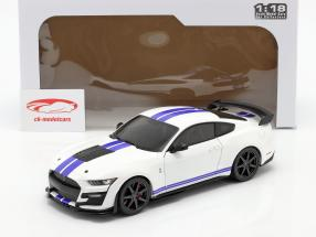 Ford Mustang Shelby GT500 Fast Track Bouwjaar 2020 Wit 1:18 Solido