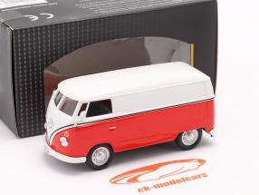 Volkswagen VW T1 Transporter hvid / rød 1:43 Cararama