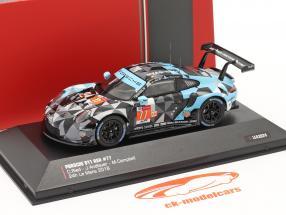 Porsche 911 (991) RSR #77 vencedora LMGTE Am 24h LeMans 2018 1:43 Ixo