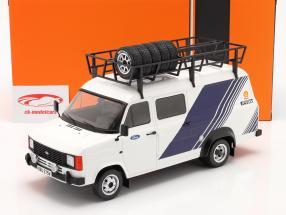 Ford Transit MK II camioneta Team Ford blanco / azul 1:18 Ixo